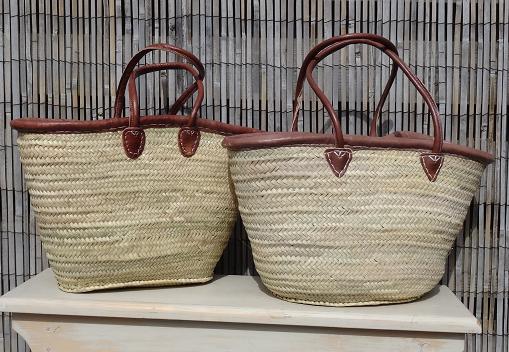 Strandtassen 2015 : Rieten strandtassen stijlvolle brocante