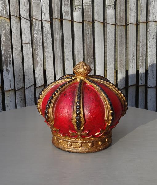 houten-kroon-goud-rood-zwart