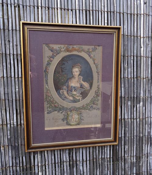 antiek-schilderij-middeleeuws-dame